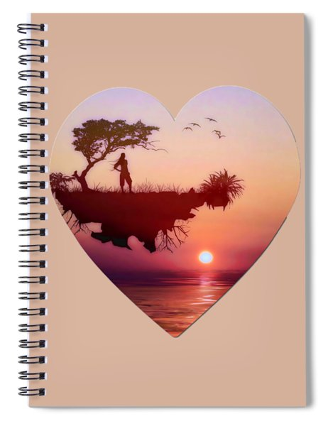 Solitary Sister Spiral Notebook by Valerie Anne Kelly