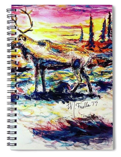 Solitude Caribou Spiral Notebook