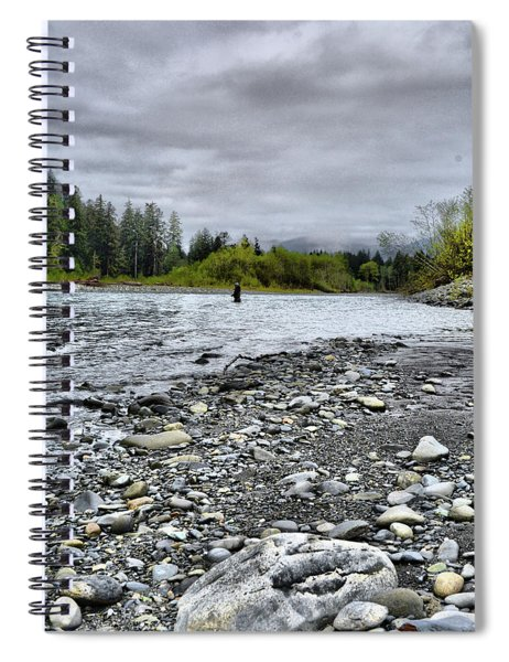 Solitude On The River Spiral Notebook