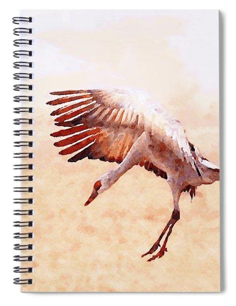 Solo Sandhill Crane Spiral Notebook