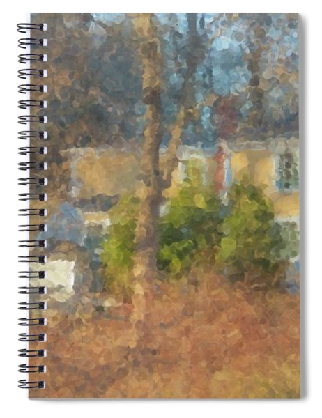 Solstice Morning Light On Colonial Home Spiral Notebook