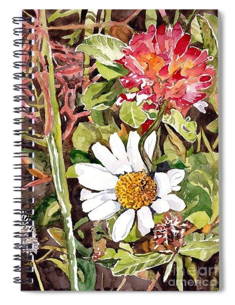 Somewhere In The Grass Spiral Notebook