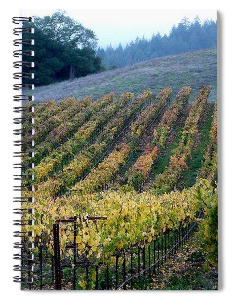 Sonoma County Vineyards Near Healdsburg Spiral Notebook
