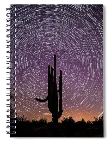 Sonoran Star Trails Spiral Notebook