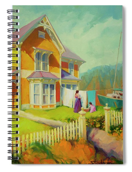 Sophie And Rose Spiral Notebook by Steve Henderson