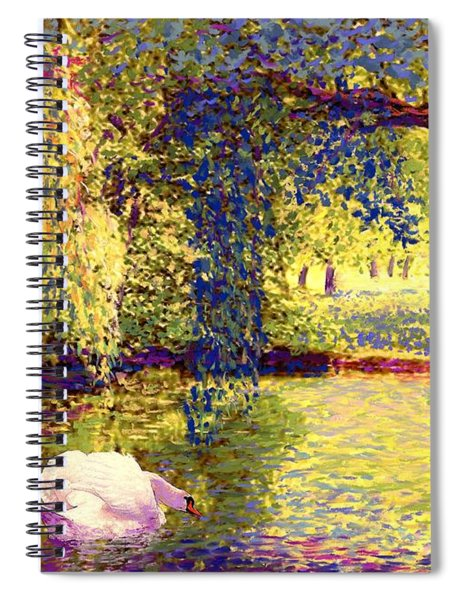 Swans, Soul Mates Spiral Notebook