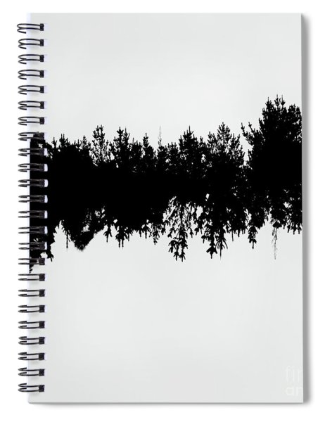 Sound Waves Made Of Trees Reflected Spiral Notebook