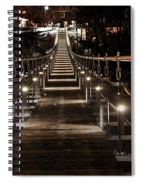 Souris Manitoba Swinging Bridge  Spiral Notebook