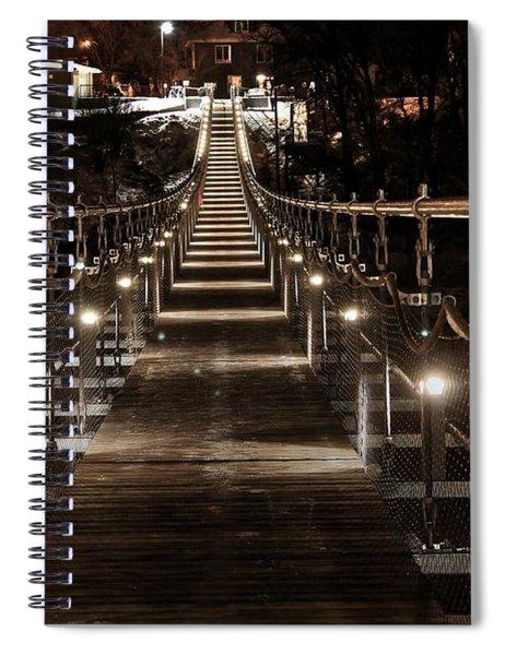 Souris Manitoba Swinging Bridge  Spiral Notebook