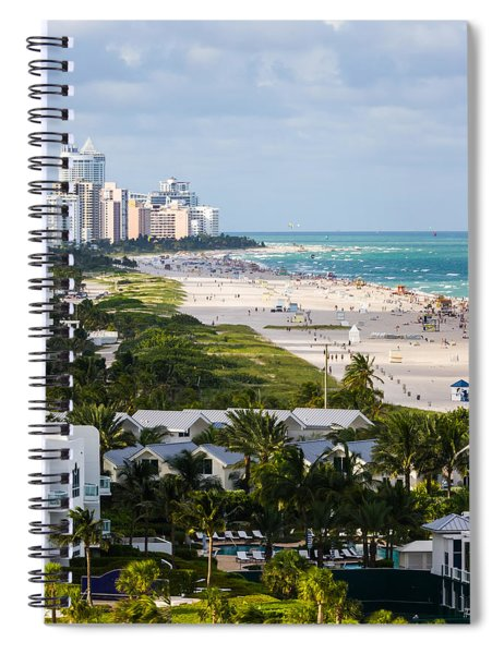 Spiral Notebook featuring the photograph South Beach Late Afternoon by Ed Gleichman