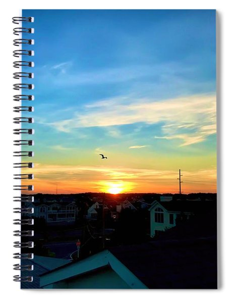South Bethany Sunset Spiral Notebook