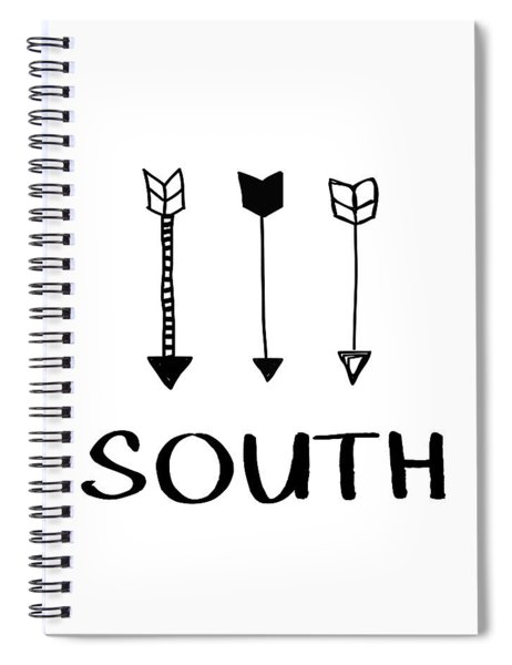 South With Arrows- Art By Linda Woods Spiral Notebook