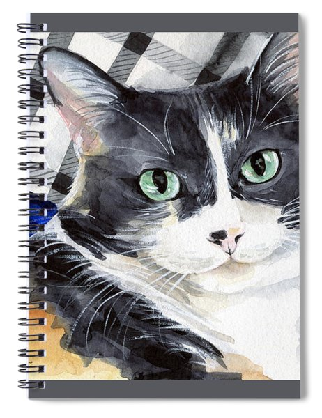 Southpaw - Calico Cat Portrait Spiral Notebook