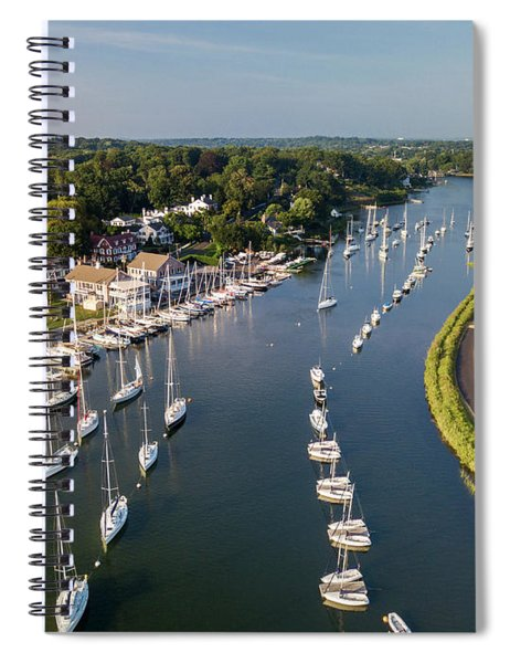 Southport Harbor Aerial Spiral Notebook