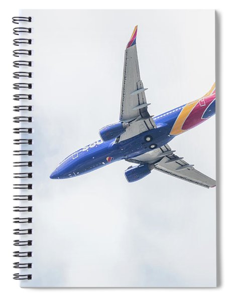 Spiral Notebook featuring the photograph Southwest Airlines With A Heart by Robert Bellomy