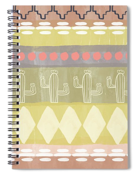 Southwest Cactus Decorative- Art By Linda Woods Spiral Notebook