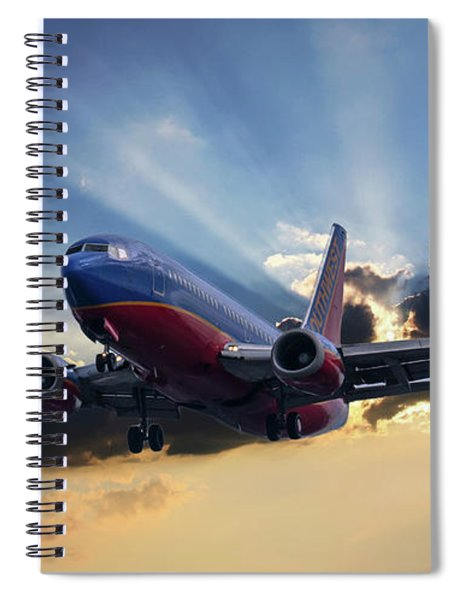 Southwest Dramatic Rays Of Light Spiral Notebook