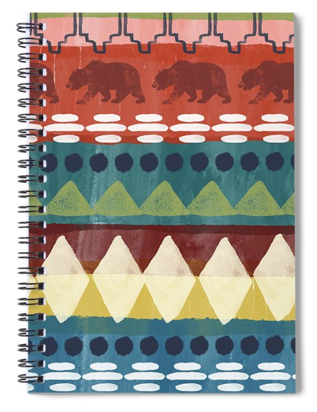 Southwest With Bears- Art By Linda Woods Spiral Notebook by Linda Woods