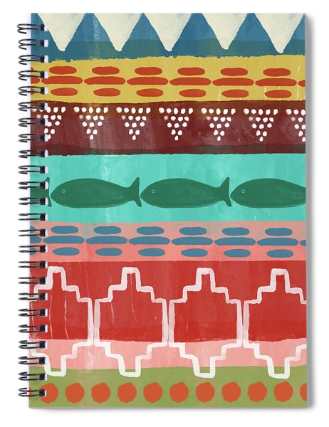 Southwest With Fish- Art By Linda Woods Spiral Notebook
