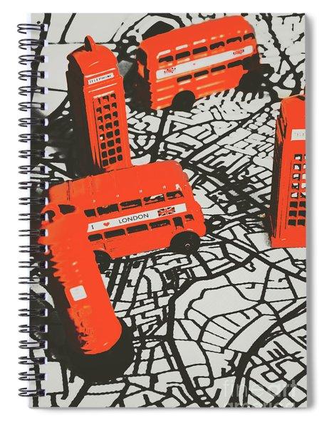 Souveniring Capital England  Spiral Notebook