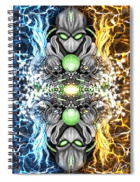 Space Alien Time Machine Fantasy Art Spiral Notebook