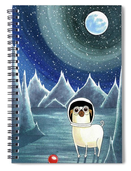 Space Pug  Spiral Notebook