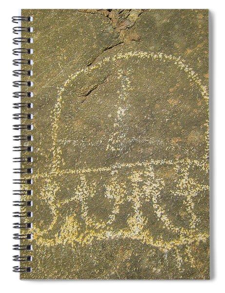 Spaceship Petroglyph Spiral Notebook