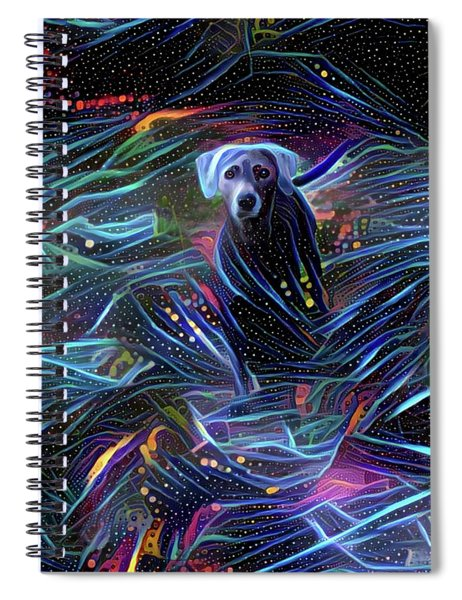 Spacey Lacy Spiral Notebook