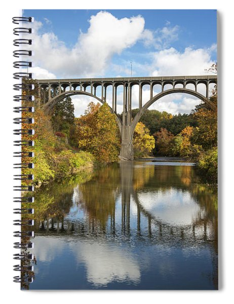 Spanning The Cuyahoga River Spiral Notebook