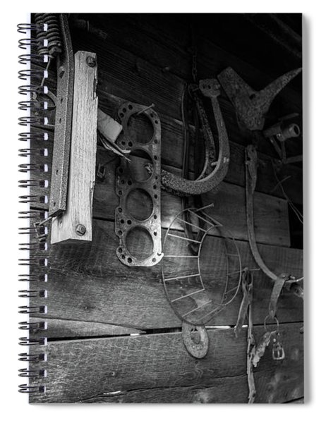 Spiral Notebook featuring the photograph Spare Parts by Doug Camara