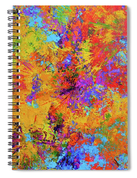 Sparks Of Consciousness Modern Abstract Painting Spiral Notebook