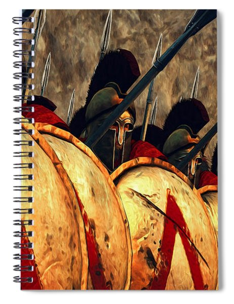 Spartan Army - Wall Of Spears Spiral Notebook