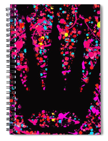 Speck Of Time Pink Spiral Notebook