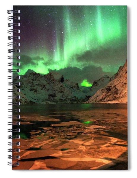 Spectacular Night In Lofoten 1 Spiral Notebook