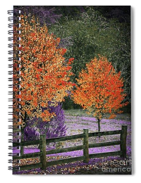 Spectral Autumn Spiral Notebook