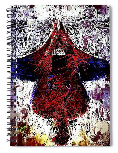 Spiderman Hanging Around Spiral Notebook