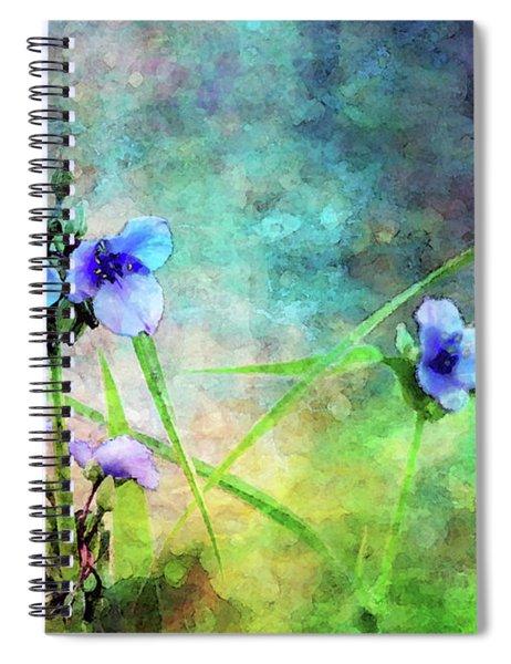 Spiderwort Dance 0115 Idp_2 Spiral Notebook