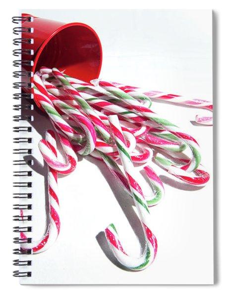 Spilled Candy Canes Spiral Notebook