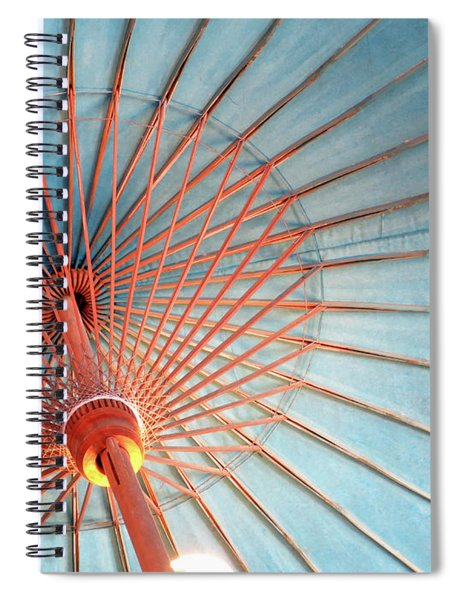 Spindles And Struts Spiral Notebook