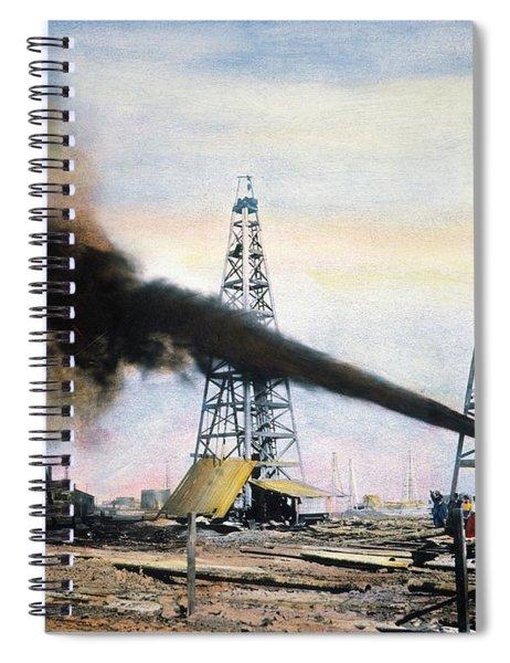 Spindletop Oil Pool, C1906 Spiral Notebook