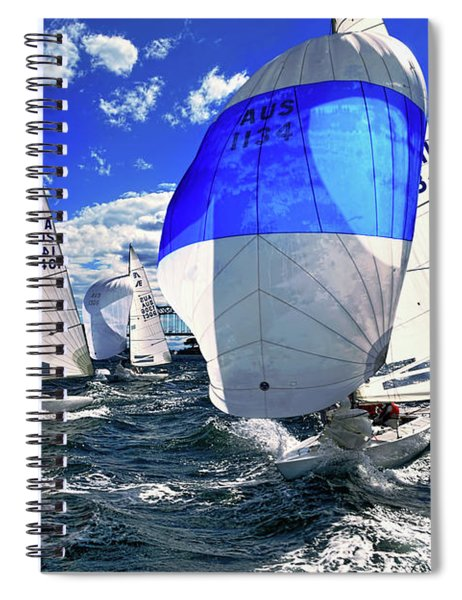 Spinnakers And Sails By Kaye Menner Spiral Notebook