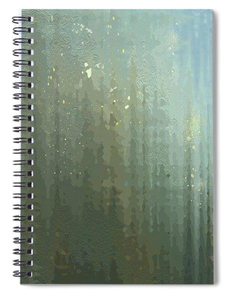 Spiral Notebook featuring the digital art Spires Through A Window by Gina Harrison