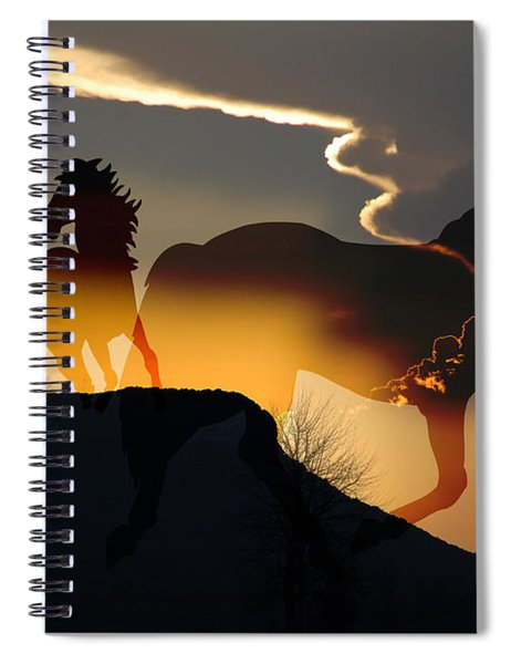 Spirits In The Sky Spiral Notebook