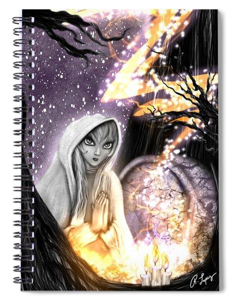 Spiritual Ghost Fantasy Art Spiral Notebook
