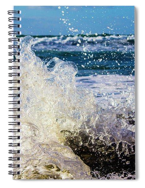Wave Crash And Splash Spiral Notebook