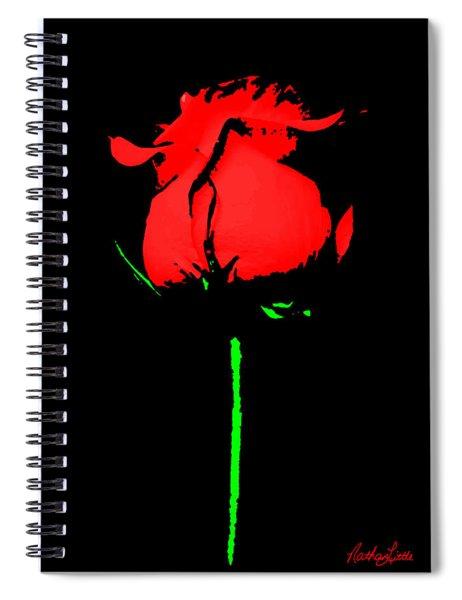 Splash Of Ink Spiral Notebook