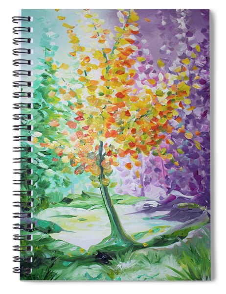 Splash Tree Spiral Notebook