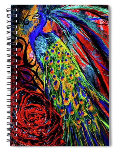 Splendor Of Love And Glory - Peacock Colorful Artwork Spiral Notebook