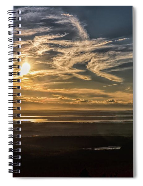 Splendorous Sunset Spiral Notebook