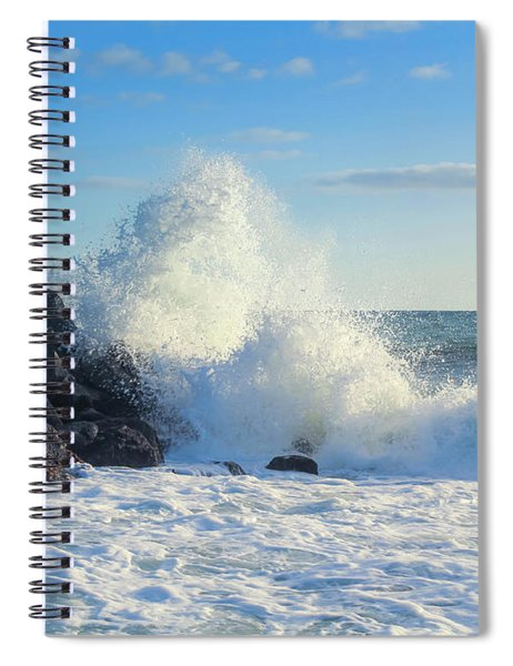 Spiral Notebook featuring the photograph Splish Splash by Alison Frank